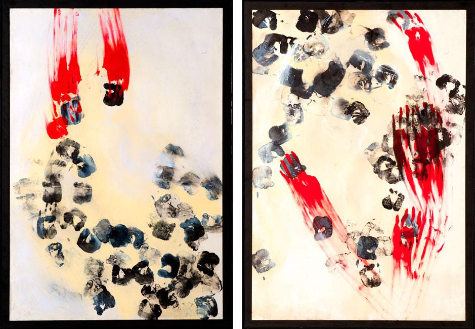 Acrilico e china su carta Canson (110 x 75 cm)