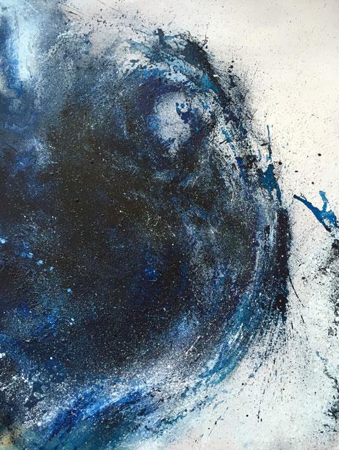 BLUE DESIRES II - Olio e acrilico su tavola (90 x 115 cm)