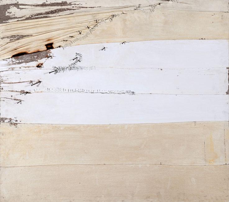 CERTEZZA II - Tecnica mista su tavola (80 x 90 cm)