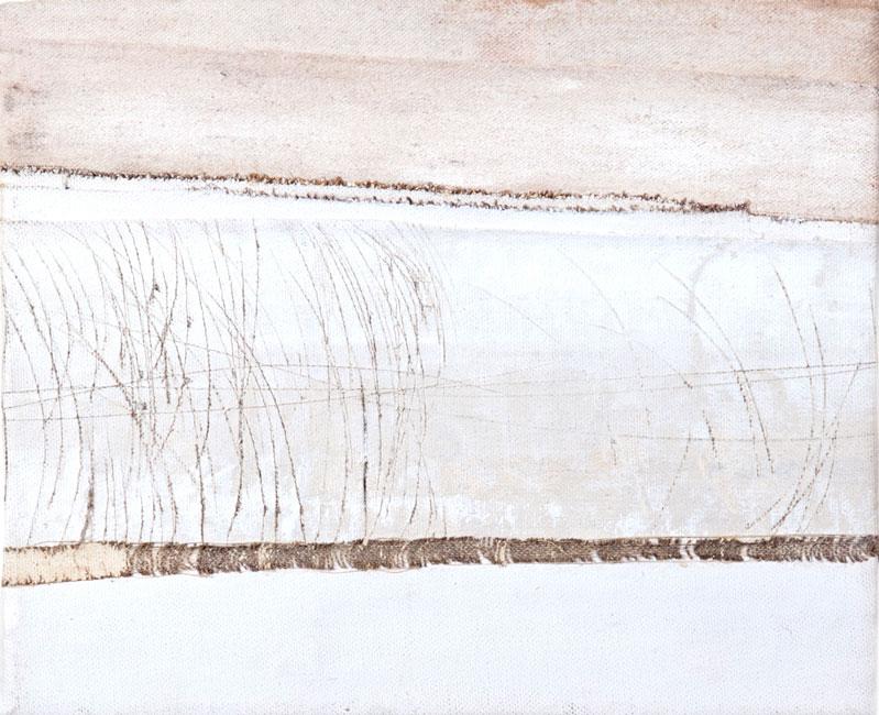 Olio, acrilico e  incisione su tela (23 x 27 cm)