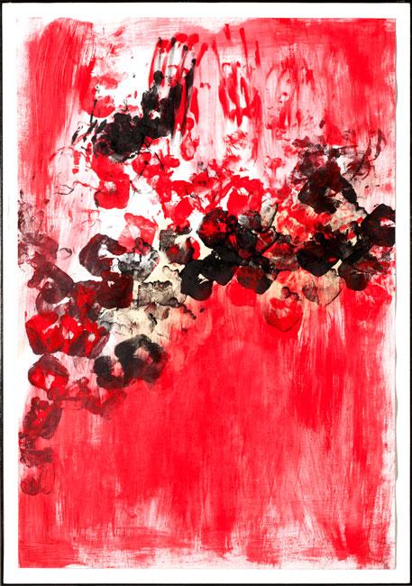 Love - Acrilico e china su carta Canson (110 x 75 cm)