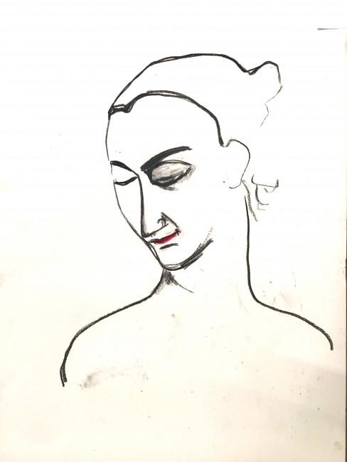 Carboncino su carta (60 x 50 cm)