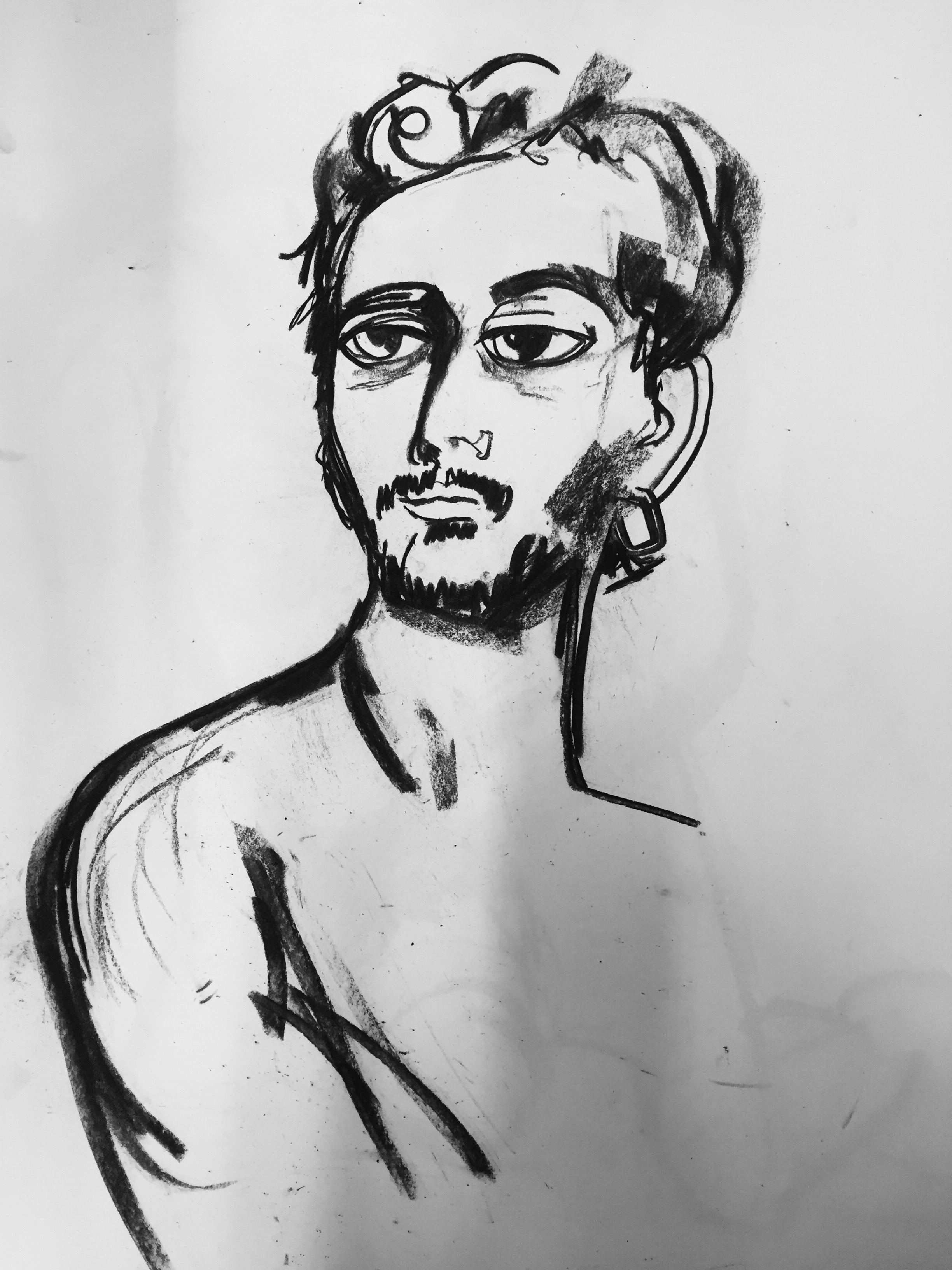 Charcoal on paper (60 x 50cm)