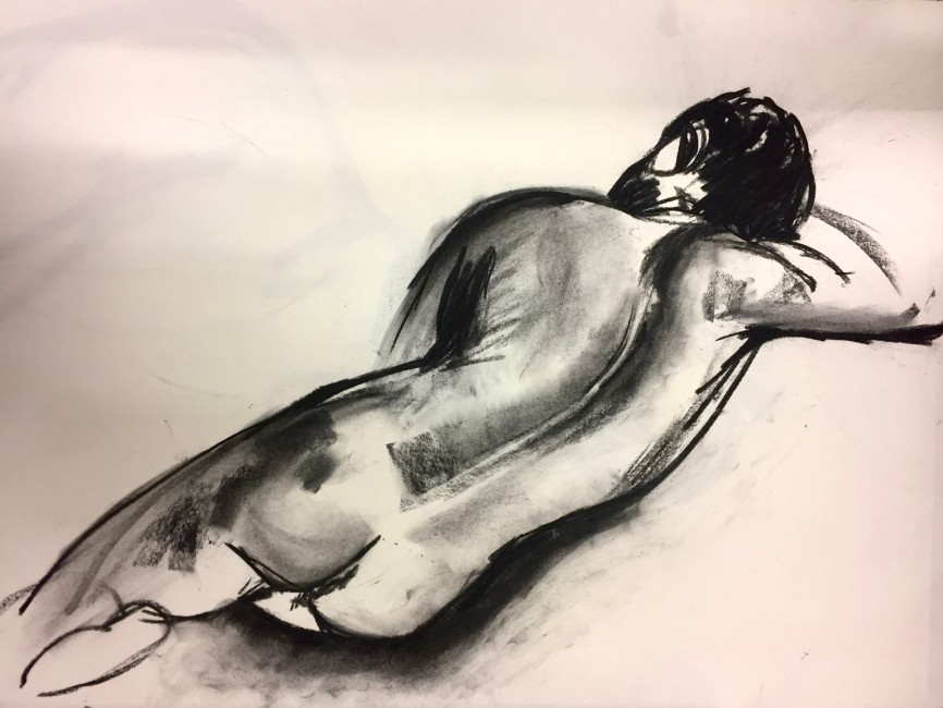 Charcoal on paper (50 x 60cm)
