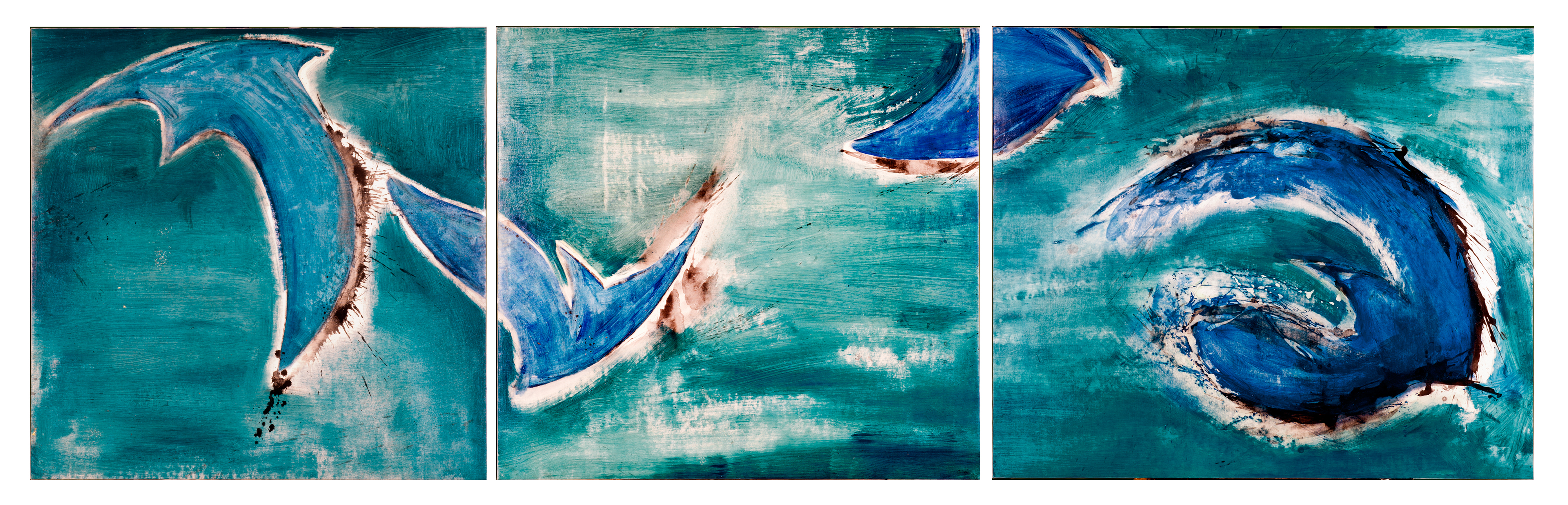 Triptych. Oil and ink on canvas (00 x 315cm)